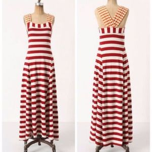 Anthropologie Monogram Split Stripes Maxi Dress XS